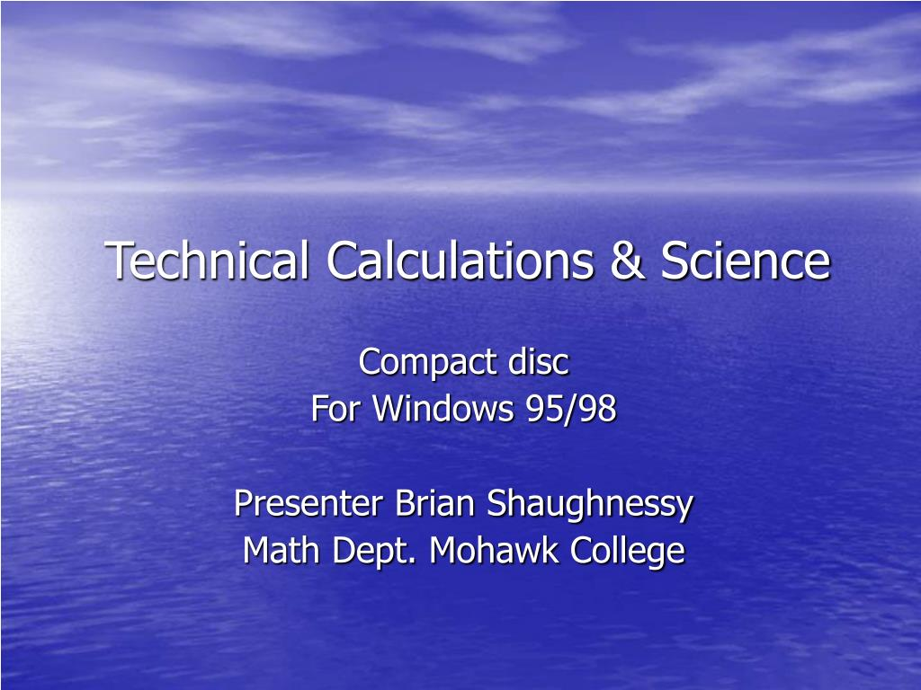 technical calculations science l.