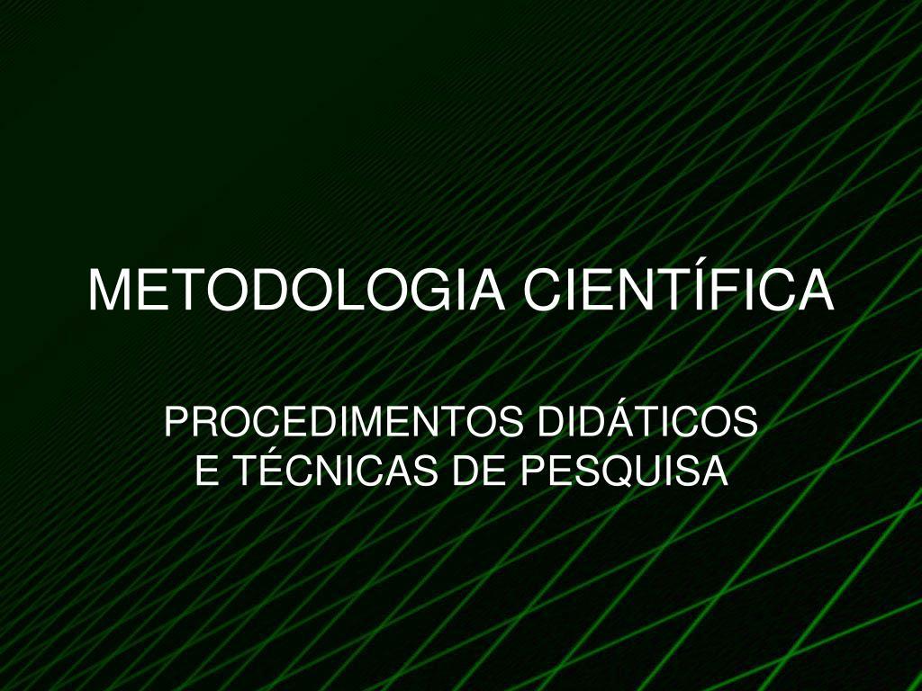metodologia cient fica l.