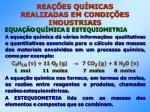 rea es qu micas realizadas em condi es industriais34