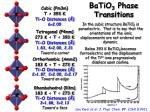 batio 3 phase transitions