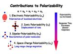 contributions to polarizability