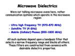 microwave dielectrics