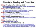 structure bonding and properties17