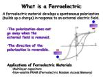 what is a ferroelectric
