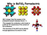 why is batio 3 ferroelectric