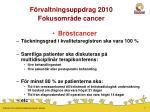 f rvaltningsuppdrag 2010 fokusomr de cancer