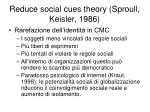 reduce social cues theory sproull keisler 1986
