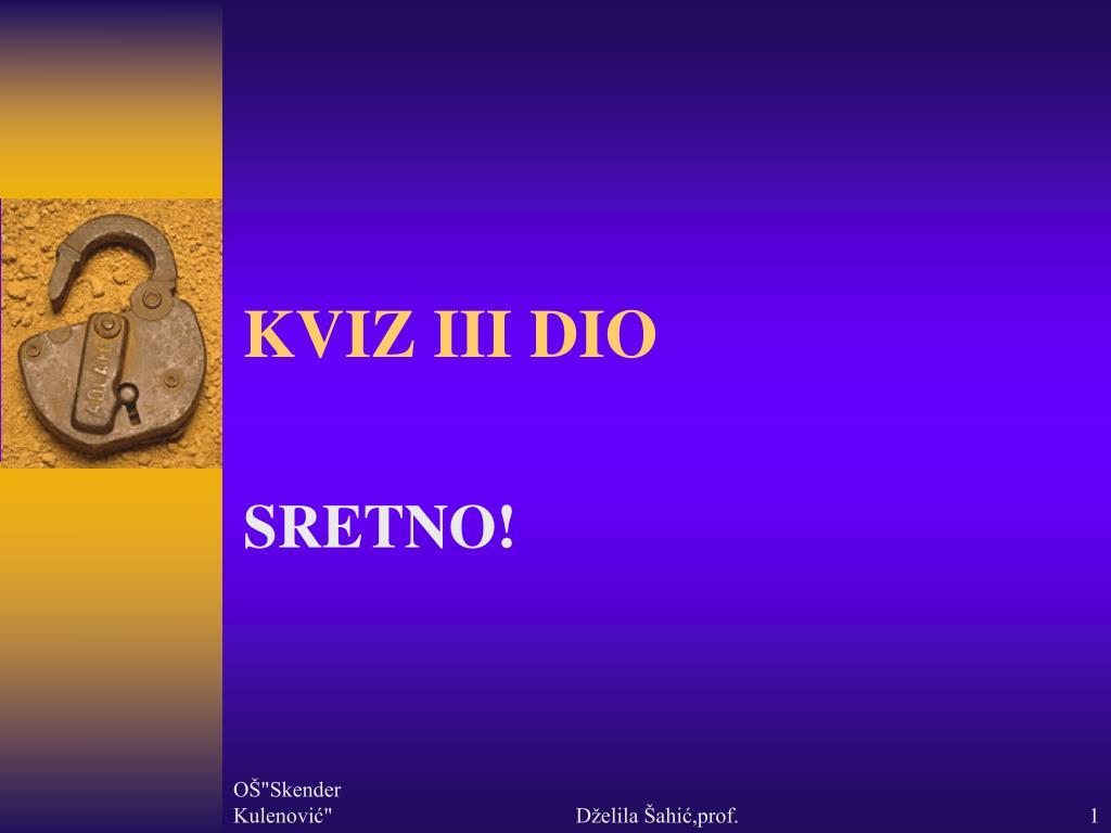 kviz iii dio l.