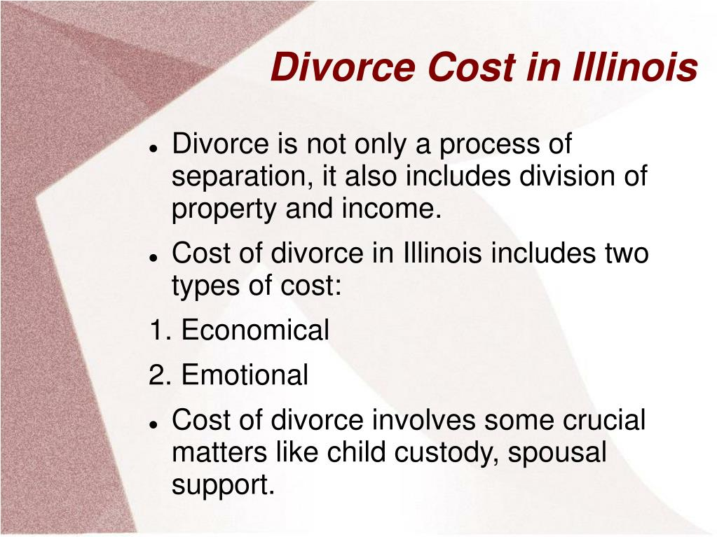 divorce cost in illinois l.
