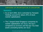 overview of privatisation in singapore7
