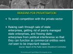 reasons for privatisation11
