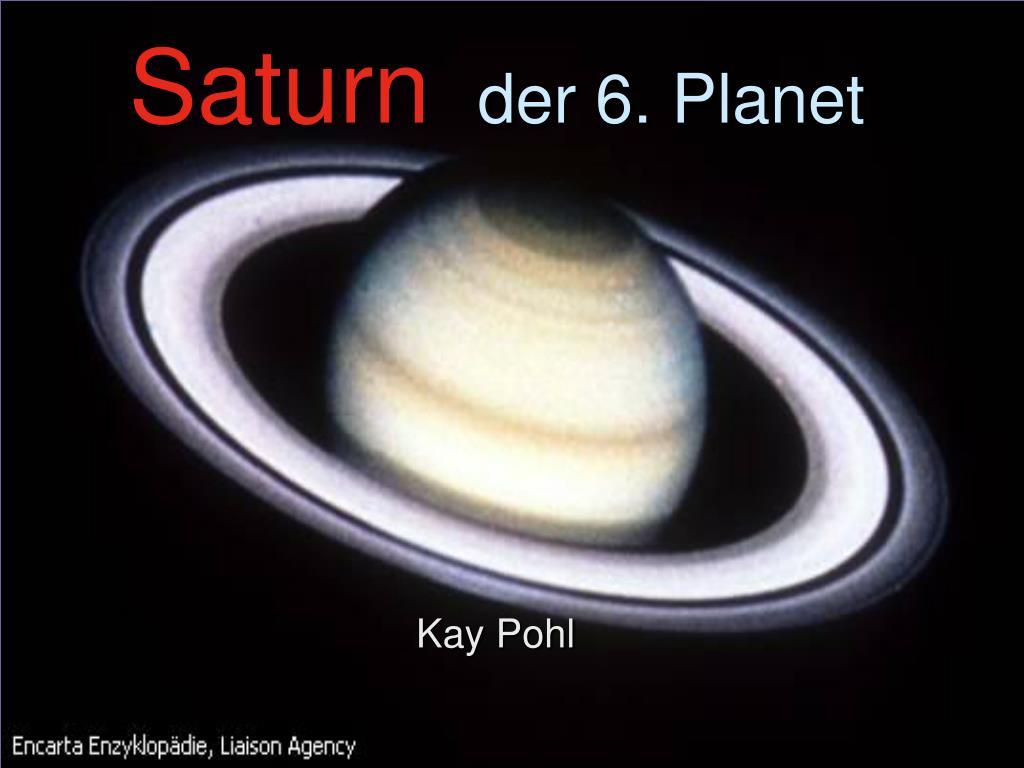 saturn der 6 planet l.