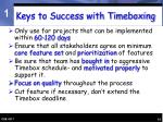 keys to success with timeboxing