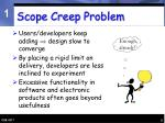 scope creep problem