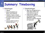 summary timeboxing