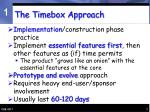 the timebox approach
