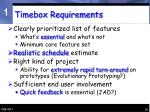 timebox requirements