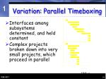 variation parallel timeboxing