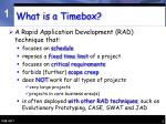 what is a timebox3