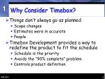 why consider timebox