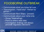 foodborne outbreak
