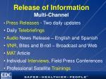 release of information multi channel