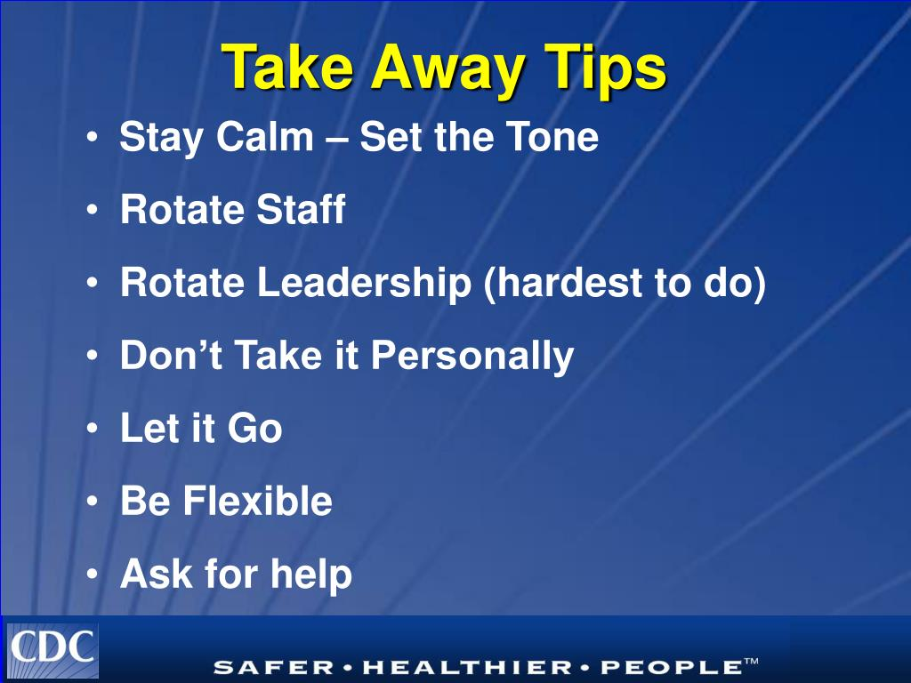 Stay Calm – Set the Tone