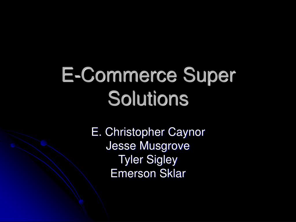 e commerce super solutions l.