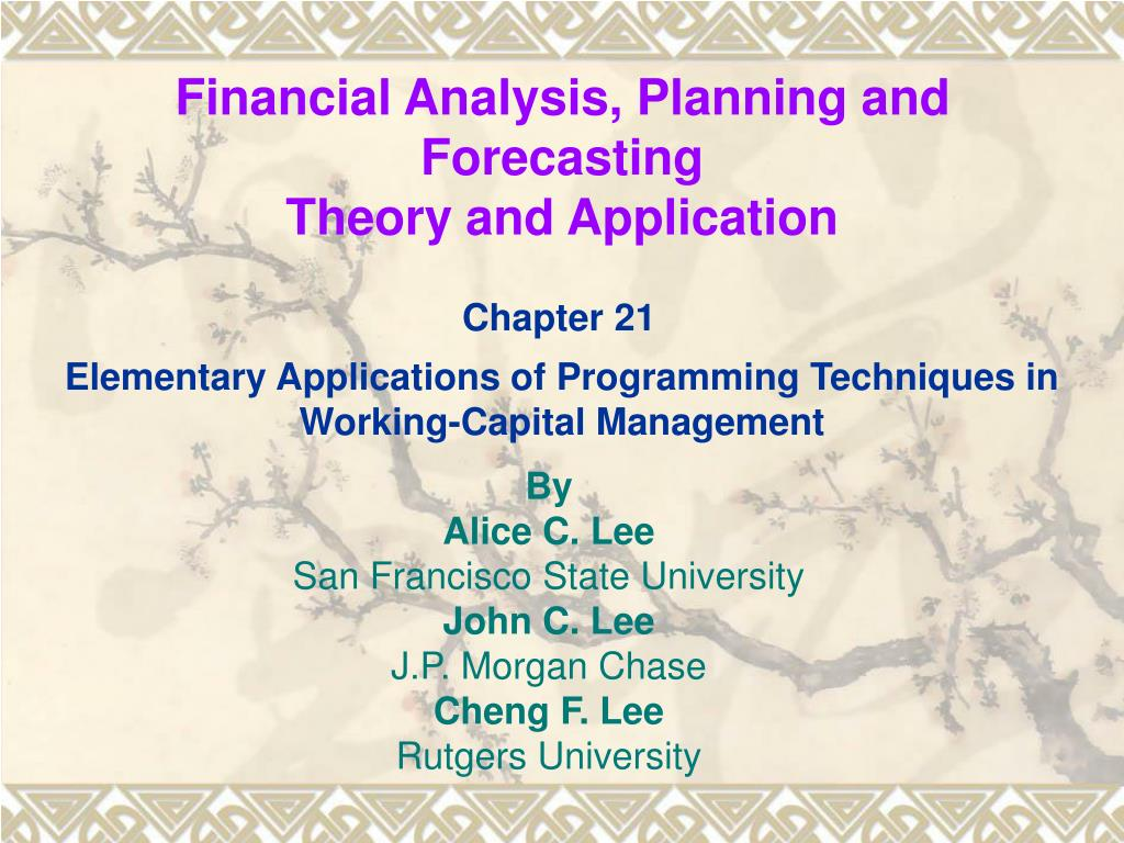 financial analysis planning and forecasting theory and application l.