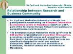 relationship between research and business community