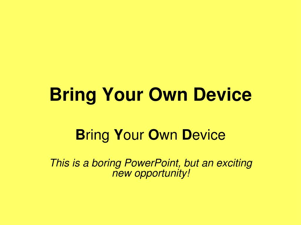 bring your own device l.