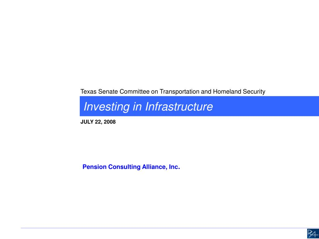 investing in infrastructure l.
