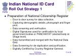 indian national id card roll out strategy 1