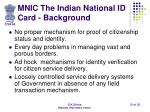 mnic the indian national id card background