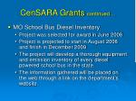 censara grants continued