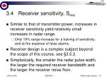 3 4 receiver sensitivity s min