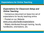 expectations for online teaching