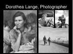 dorothea lange photographer