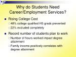 why do students need career employment services