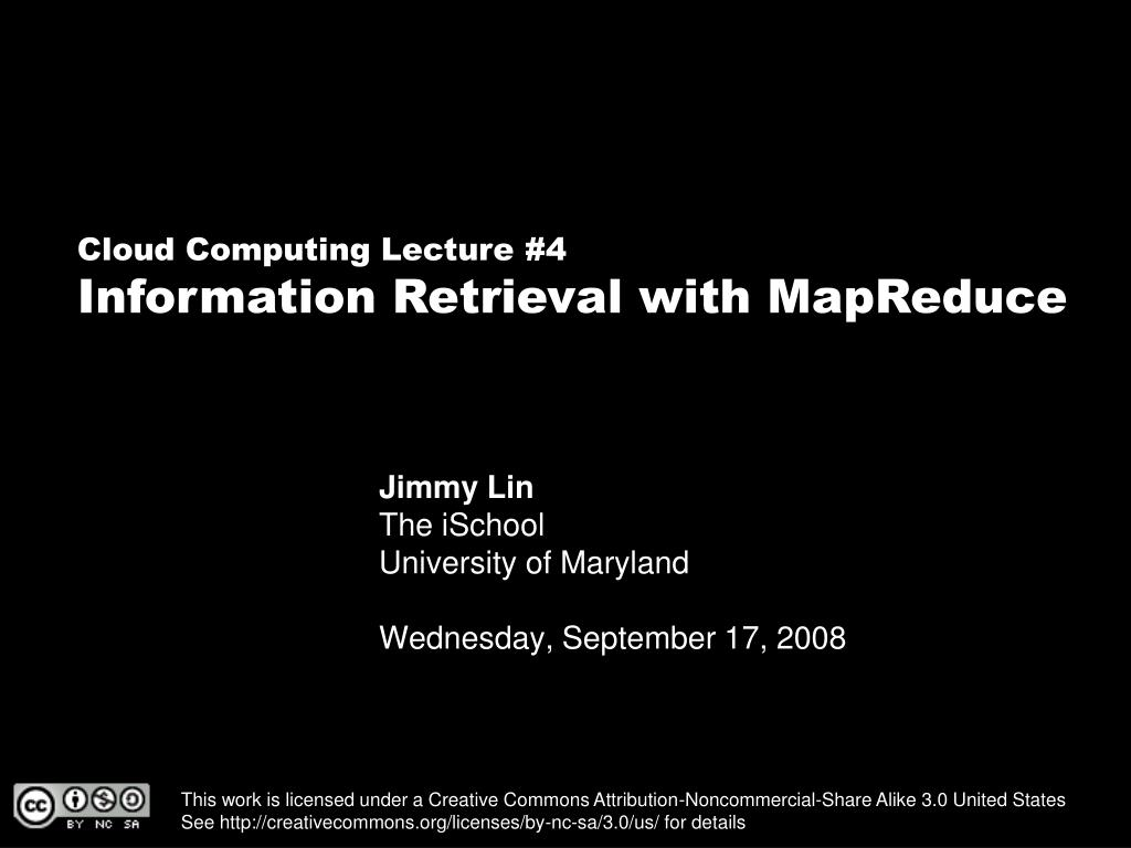 jimmy lin the ischool university of maryland wednesday september 17 2008 l.