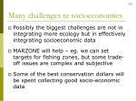 many challenges re socioeconomics