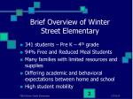 brief overview of winter street elementary
