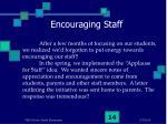 encouraging staff