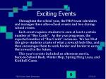 exciting events