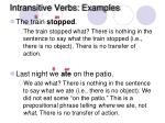 intransitive verbs examples