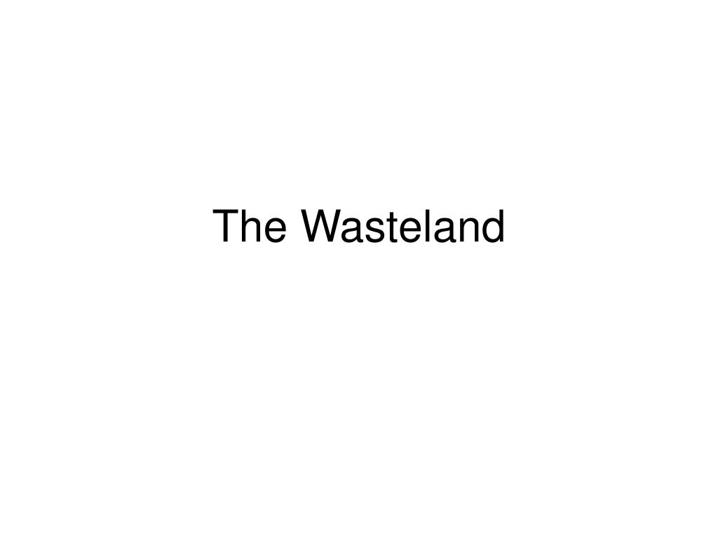 the wasteland l.