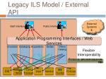 legacy ils model external api