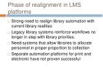 phase of realignment in lms platforms