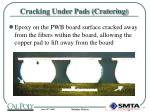 cracking under pads cratering9