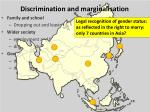 discrimination and marginalisation21